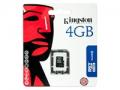 Carte m�moire Kingston Micro SDHC card 4GB classe 4